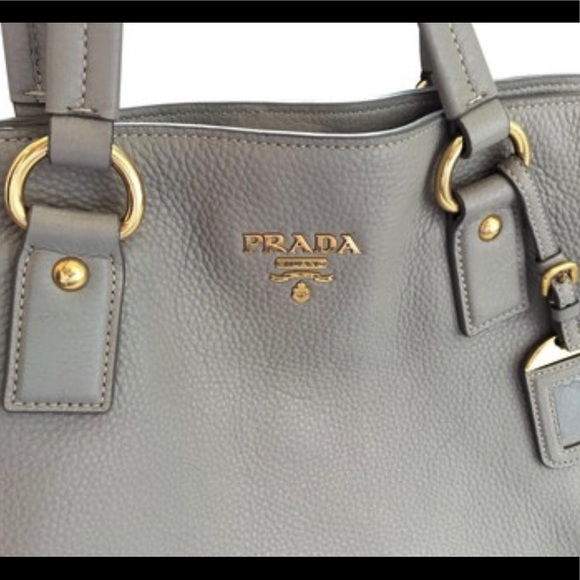 05aa50b0aad19e Prada Bags | Tote Baggrey Pebbled Leather With Gold Hw | Poshmark